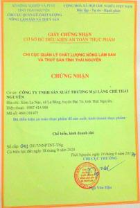 Giới Thiệu Công Ty TNHH Sản Xuất Thương Mại Làng Chè Thái Nguyên