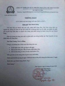 Chính sách về phát triển đại lý Chè Thái Nguyên